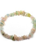 Aquamarine & Morganite - Chip Bracelet