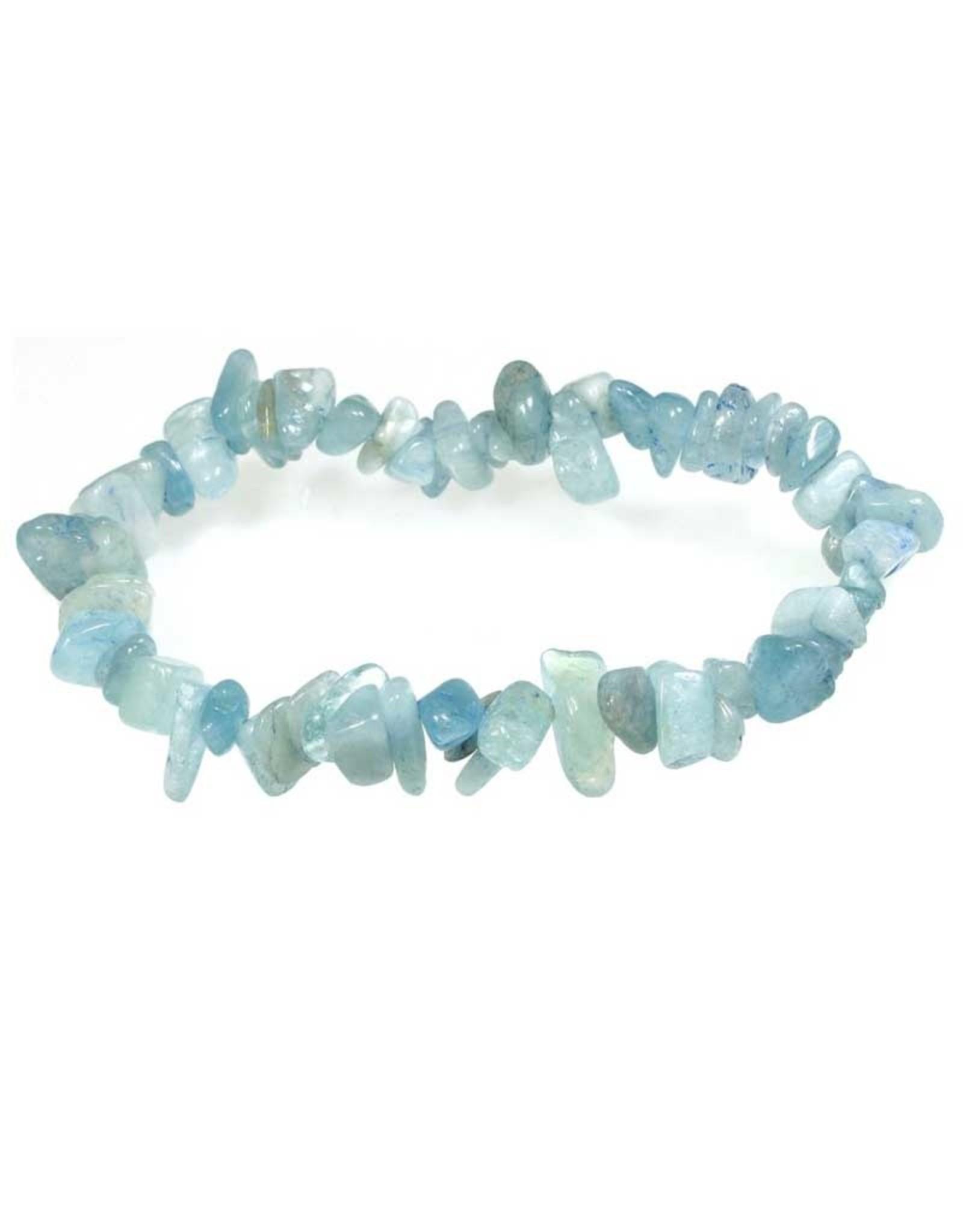 Aquamarine - Chip Bracelet