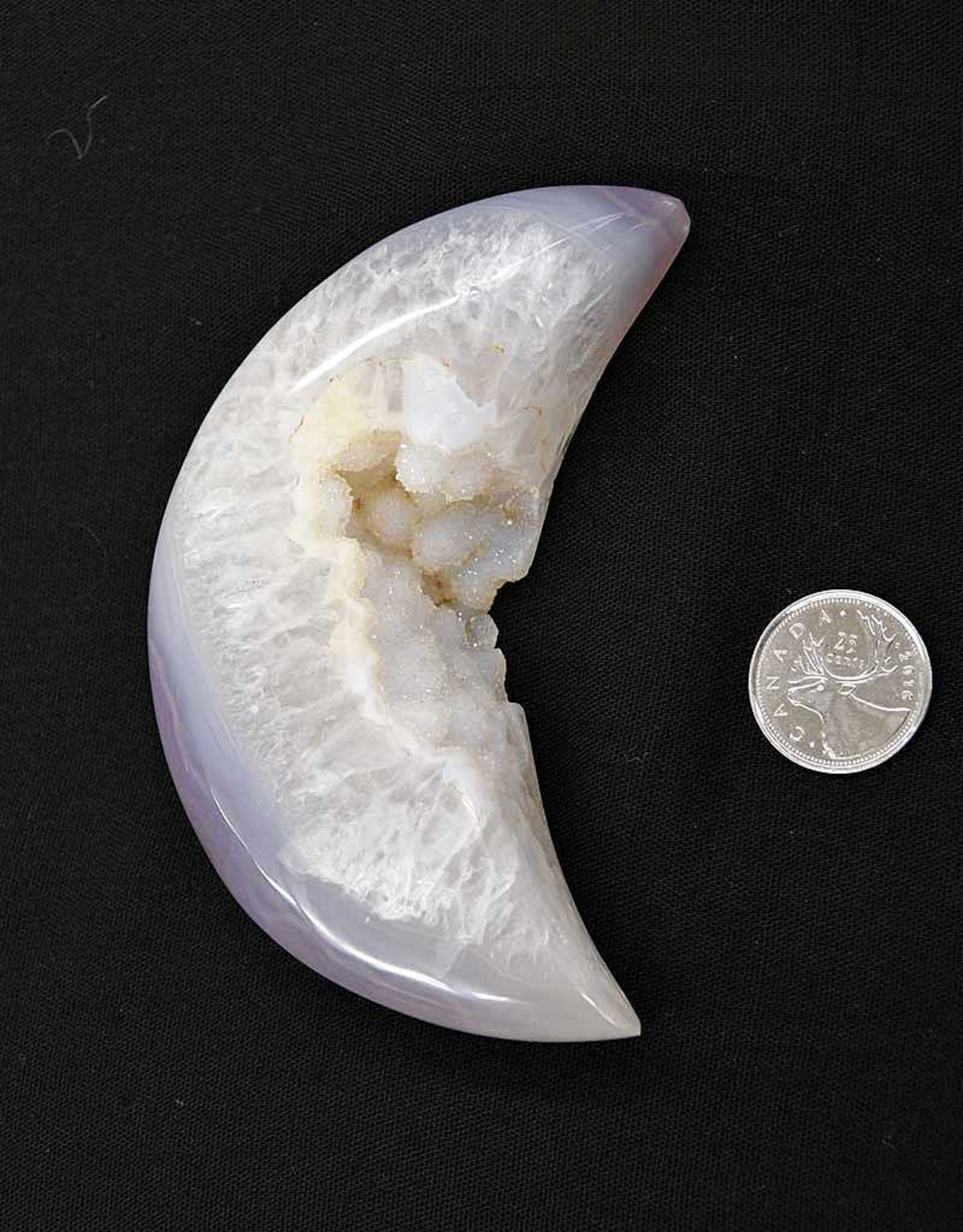 Agate Druzy Moon