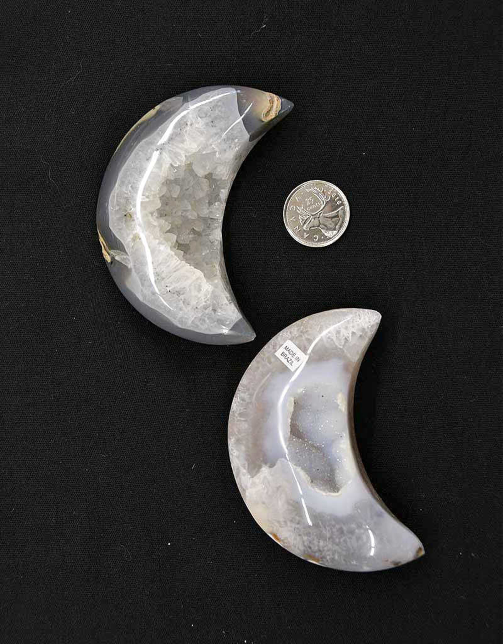 Agate Druzy Moons $63