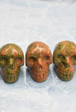"Unakite Skulls 2"" $39"