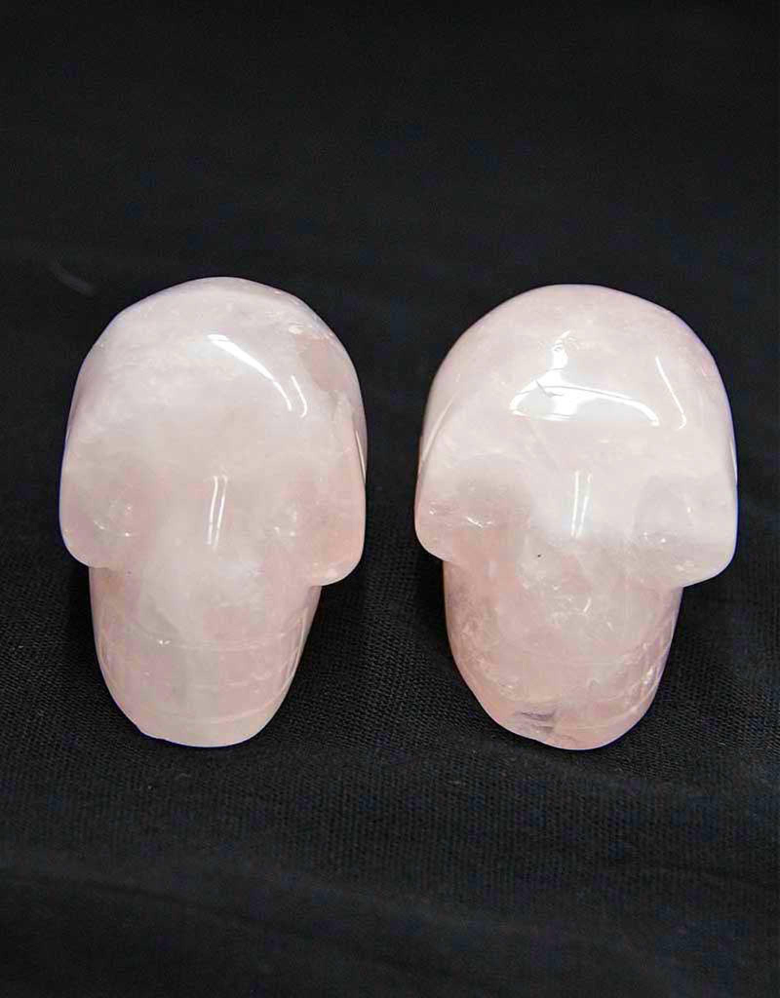"""Rose Quartz Skull 2"""""""
