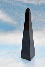 """Black Obsidian Obelisk 7""""  4 sides  $ 99"""