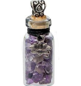 Amethyst Chip Bottle Necklace