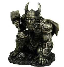 """Pacific Trading Kneeling Thor Statue -  6 1/4"""" x 5 1/2"""" x7 1/4"""""""