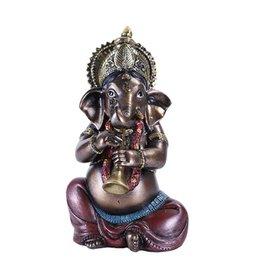 "Pacific Trading Ganesha w Horn Statue - 4"" x 4"" x 6 3/4"