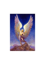 Archangel Gabriel w Horn 5x7 Laminated Card