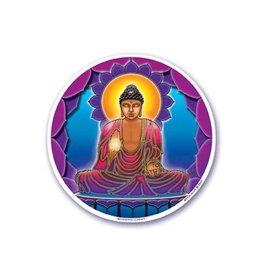 """Mandala Arts Mandala Window 4.5"""" Sticker - Buddha Light"""