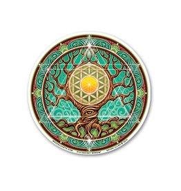 "Mandala Arts Mandala Window 4.5"" Sticker - Ancient Wisdom"