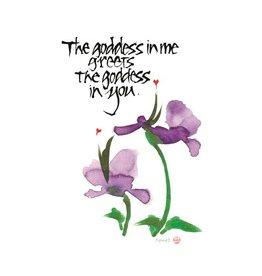 Amber Lotus Goddess in You - Greeting Card