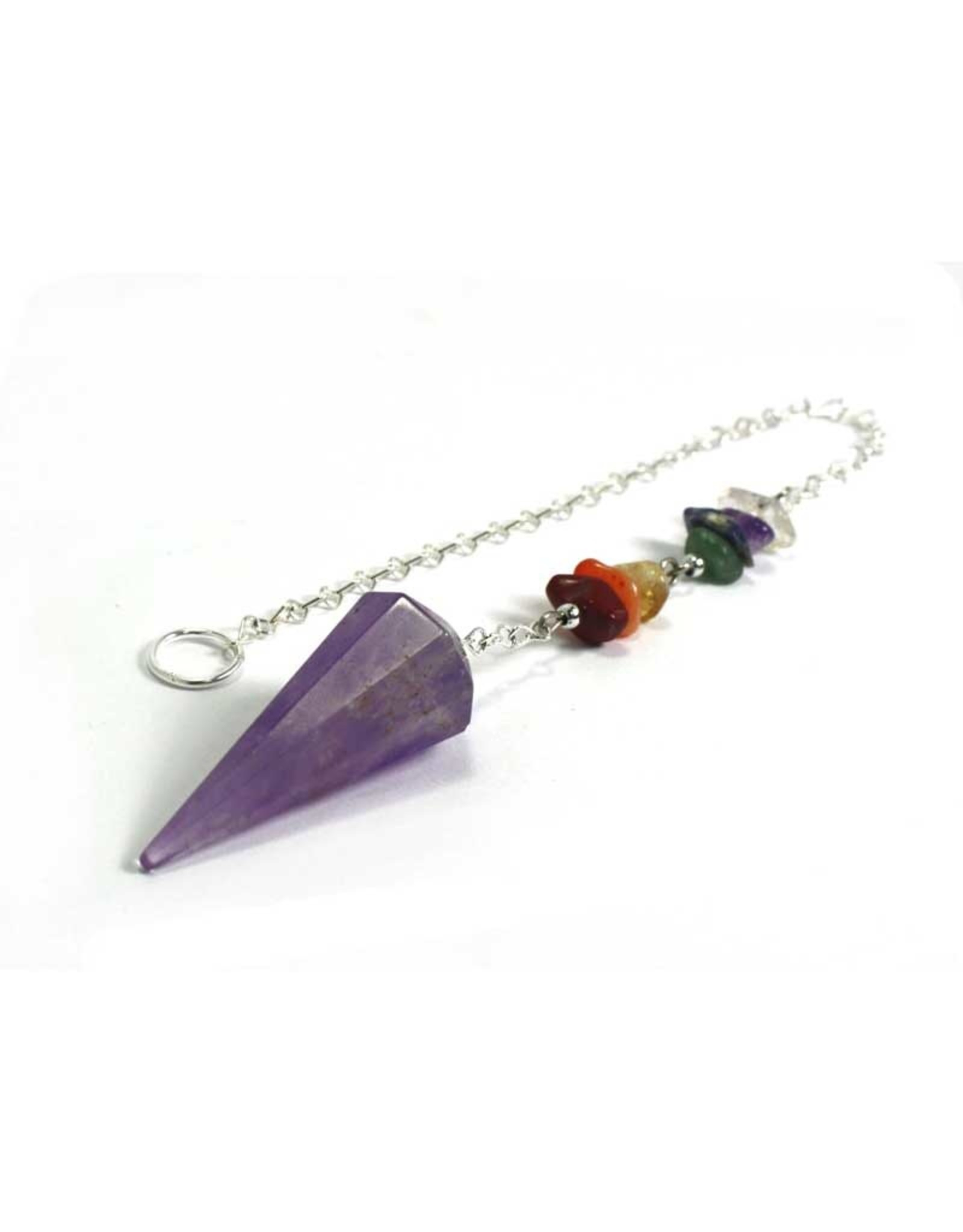 Amethyst Quartz Chakra Pendulum