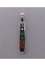 Sterling Silver 7 Stone Chakra Pendant