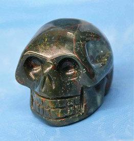 """Bloodstone Jasper Skull 2.25"""""""