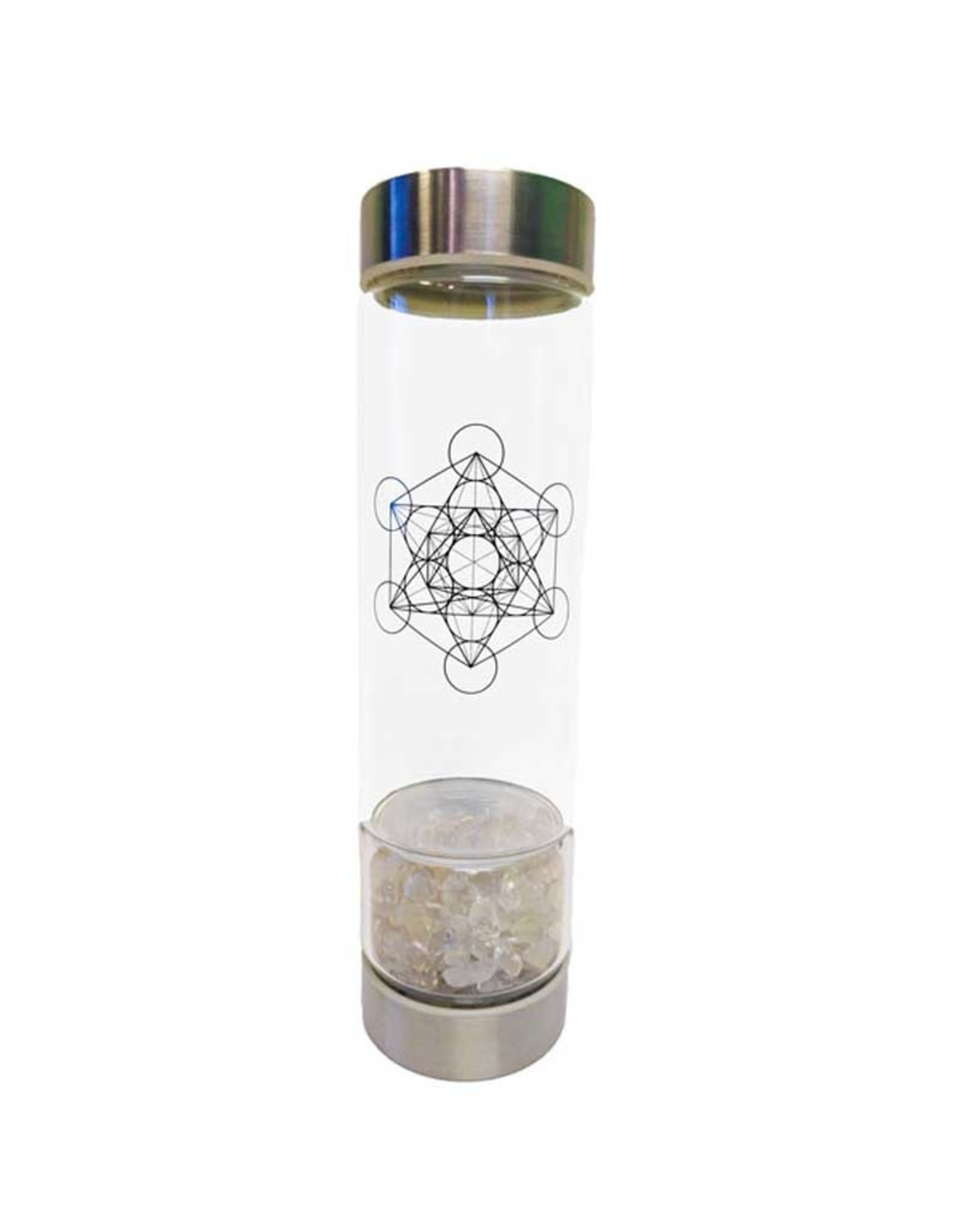 Zenature Clear Quartz Crystal Infuser Water Bottle 500 ml