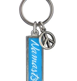 Coexist Blue Namaste Keychains ***CLEARANCE***