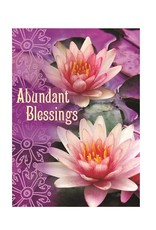 Amber Lotus Abundant Blessings - Greeting Card