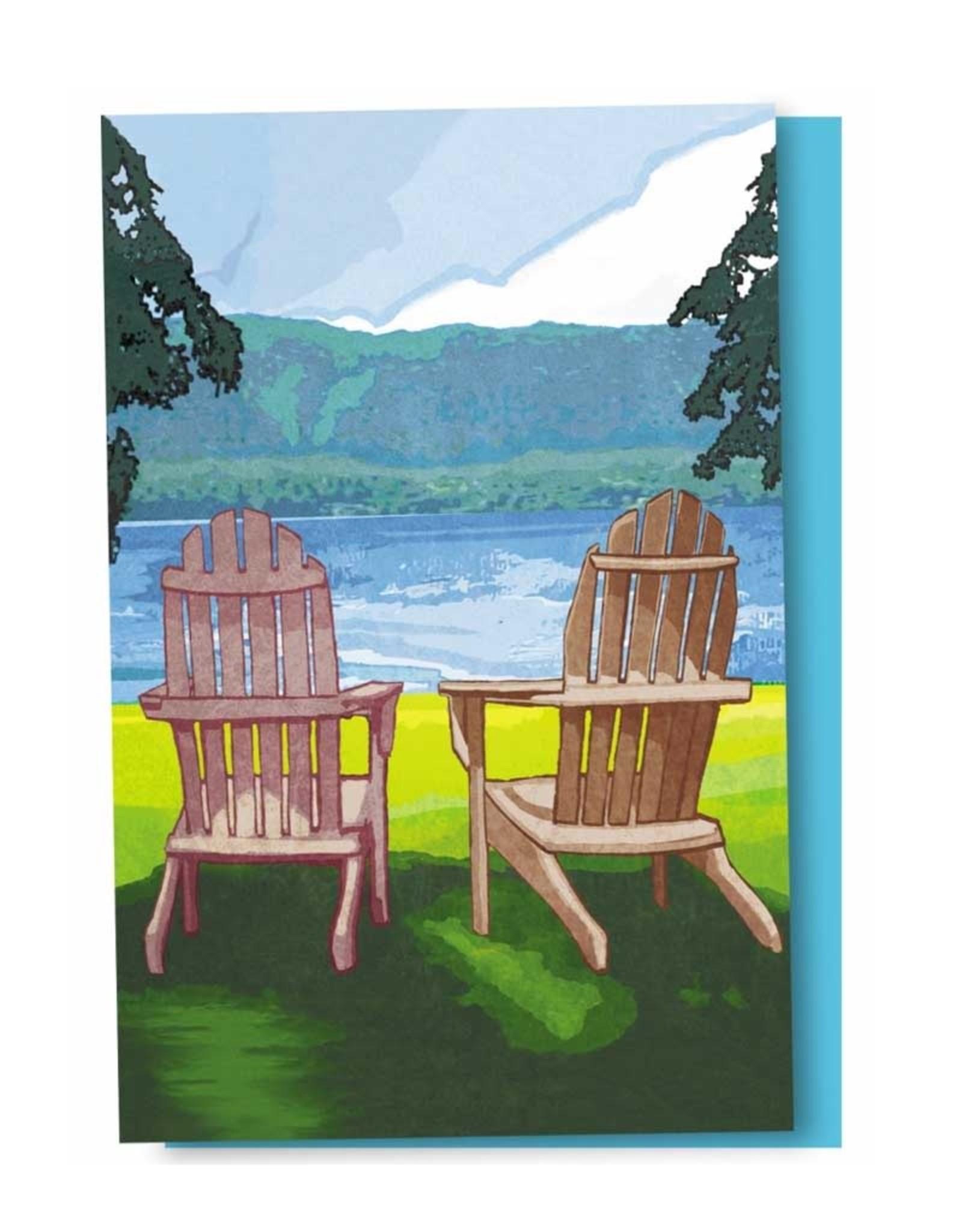 Tree - Free Greetings Adirondack Chairs - 12 Notecards