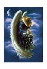 Tree - Free Greetings Angel on Pedestal - Greeting Card