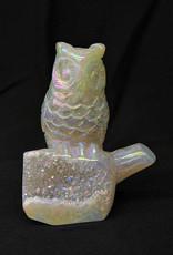 Angel Aura Druzy Agate Owl