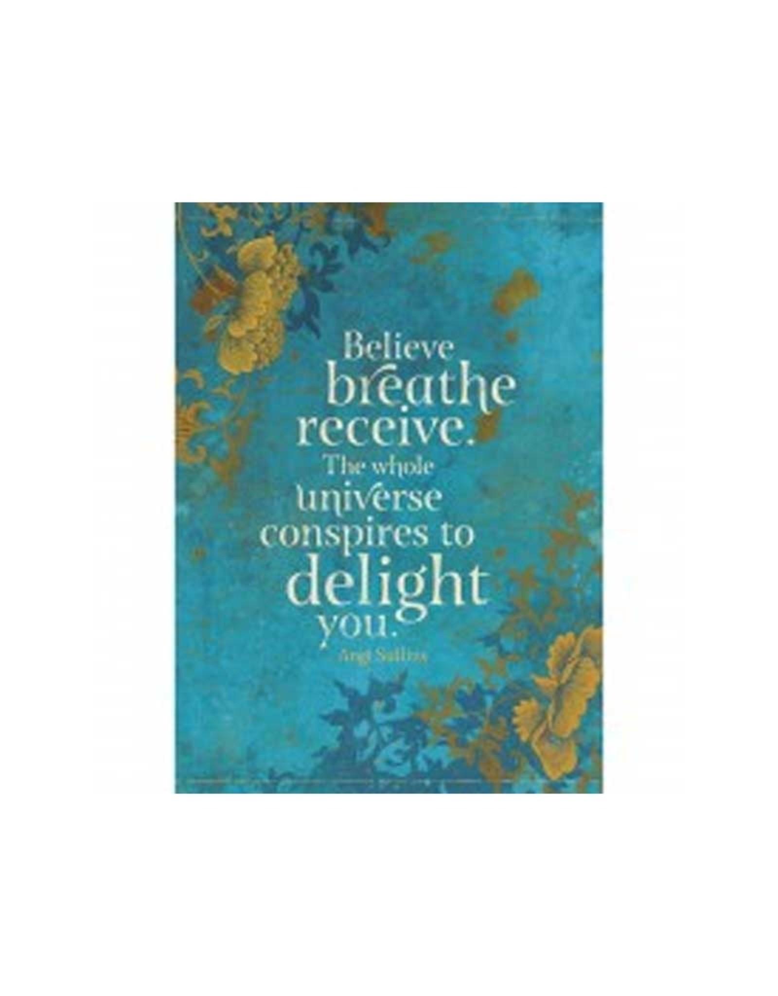 Tree - Free Greetings Believe Breathe Receive - Greeting Card