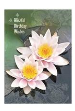 Amber Lotus Blissful Birthday - Greeting Card
