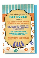 Tree - Free Greetings Cat Lover - 12 Notecards