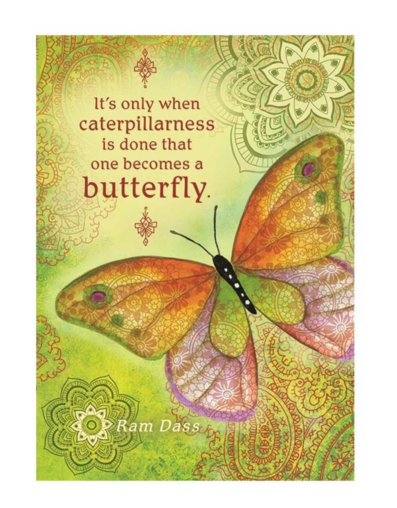Amber Lotus Caterpillarness - Greeting Gard