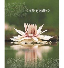 Amber Lotus With Sympathy - Greeting Card