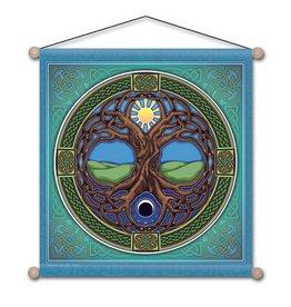 Mandala Arts Tree of Life Meditation  Banner 15x15
