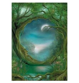 Tree - Free Greetings Day and Night Greeting Card