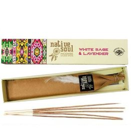 Native Soul White Sage & Lavender Native Soul Incense Sticks