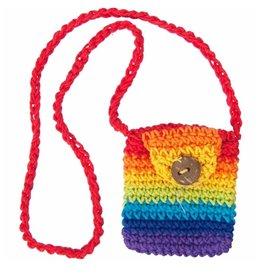 Cotton Crystal Pouch Rainbow