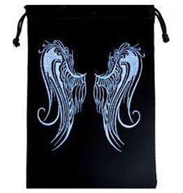 """Angel Wings Velvet Tarot Bag - 5"""" x  7"""""""