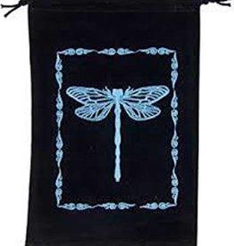 """Dragonfly Velvet Tarot Bag 5"""" x  7 """""""