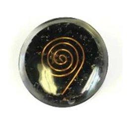 Round Pocket Orgonite Black Tourmaline