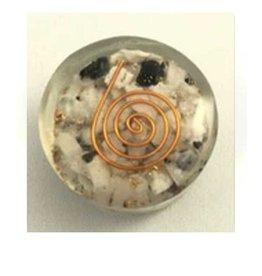 Round Pocket Orgonite Rainbow Moonstone