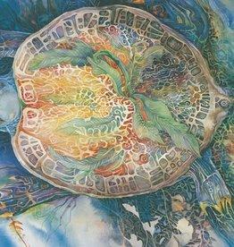 Amber Lotus Turtle Mother - Greeting Card