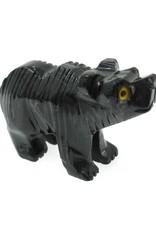 Black Onyx Bear - Stone Animal
