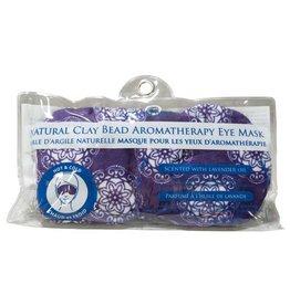 Zenature Lavender Clay Bead Eye Mask - Purple Mandala