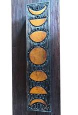 "Black & Gold Moon Incense Storage Box - 12"""