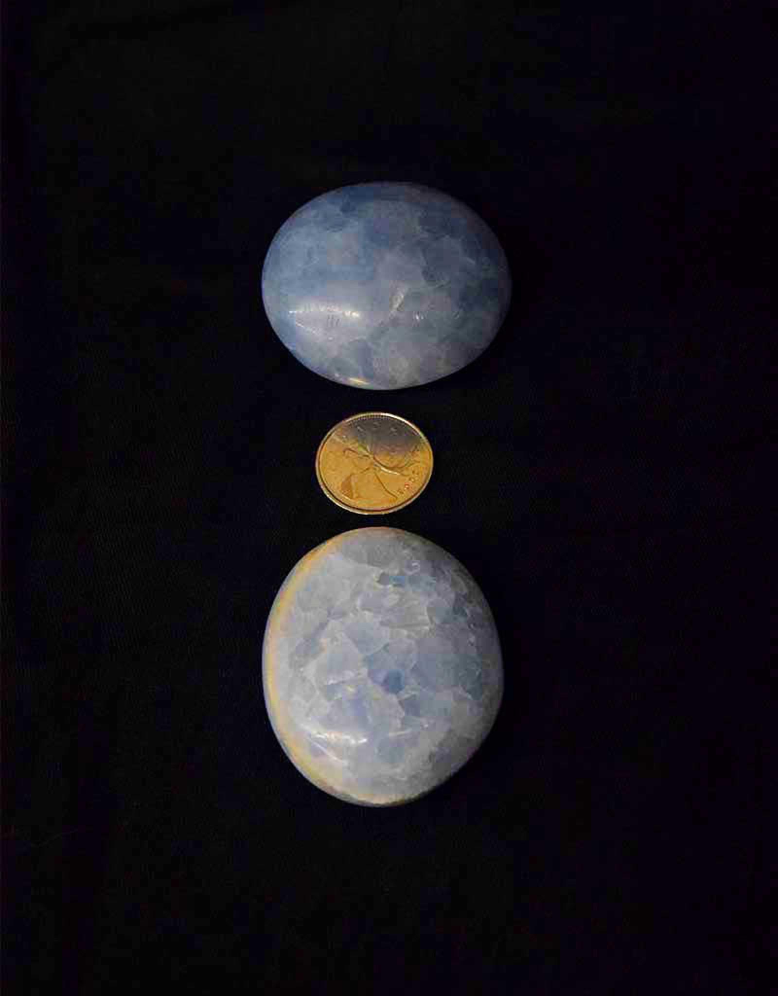 Blue Calcite Palm Stone $19