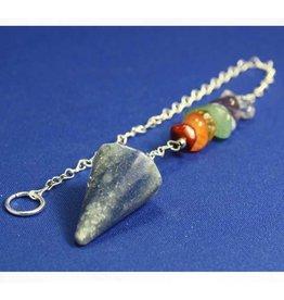 Blue Aventurine Chakra Chip Pendulum