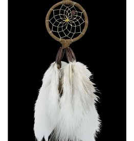 "Monague Native Crafts Brown 2"" Dream Catcher"
