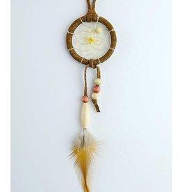 "Monague Native Crafts Brown 1.5"" Dream Catcher w Wood Beads"