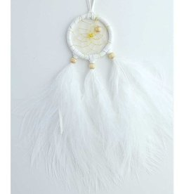 "Monague Native Crafts White 1.5"" Dream Catcher"