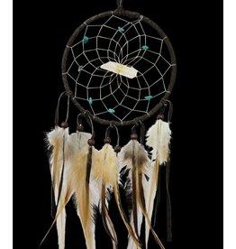 """Monague Native Crafts Dark Brown 4"""" Vision Seeker Dream Catcher"""