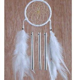 "Monague Native Crafts White 2.5"" Spirit Chime Dream Catcher"