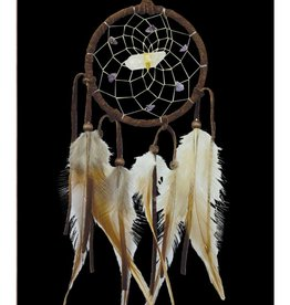 "Monague Native Crafts Brown 3"" Vision Seeker Dream Catcher"