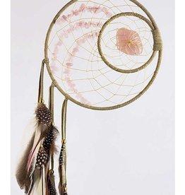 """Monague Native Crafts Woodland 6"""" Dream Catcher - Rose Quartz"""