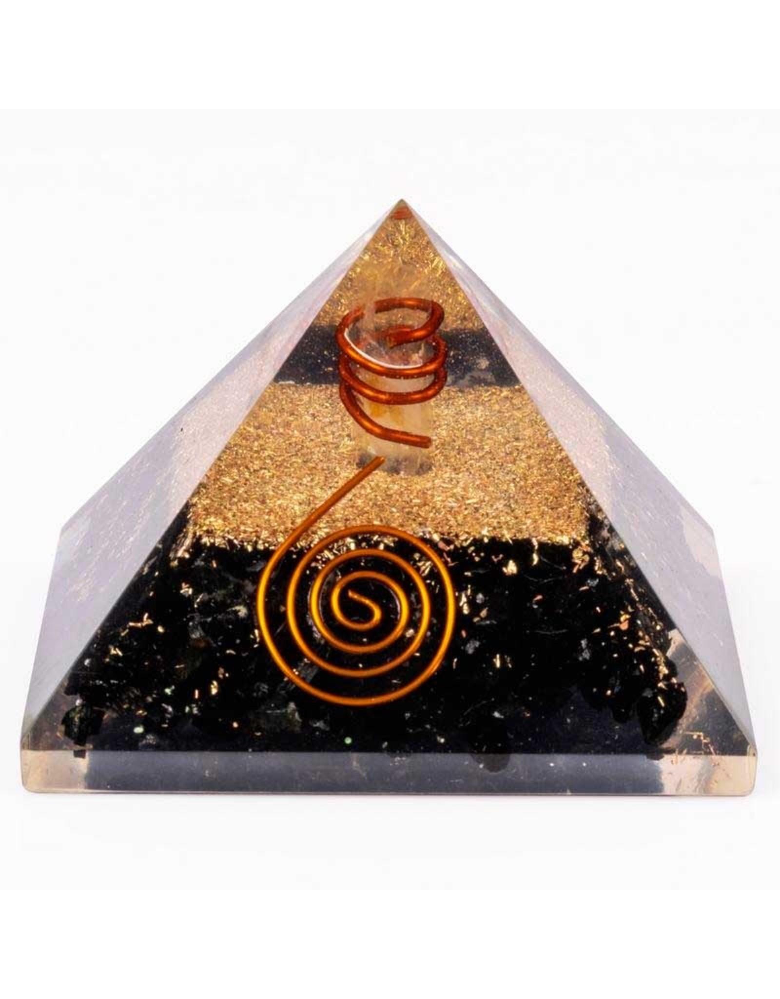 "Black Tourmaline Orgonite Pyramid - 2.5""x2.5""x2"""